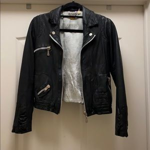 Doma clash leather jacket w chrome hearts patches